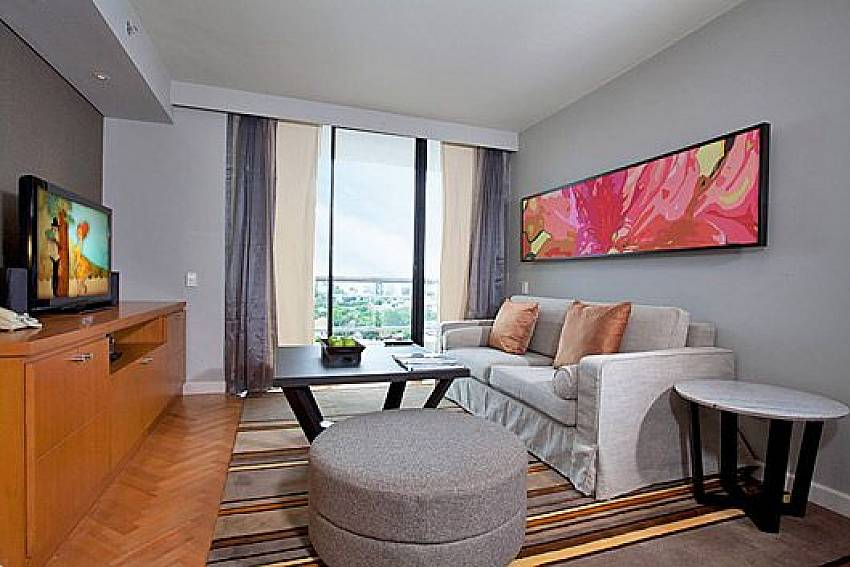 Living room see views Of Sathorn Suite Room 7073