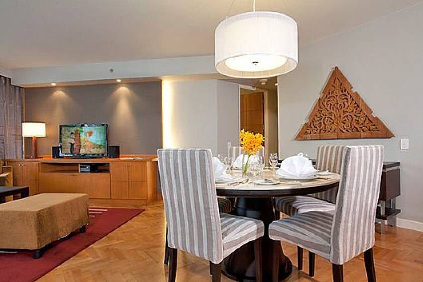 Dinning table Of Sathorn Suite Room 7071