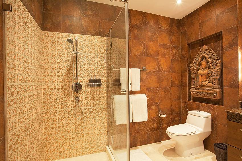 Western style bathroom Of Teak Villa Suandok