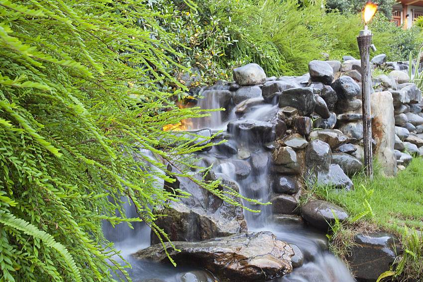 Waterfall Of Teak Villa Suandok