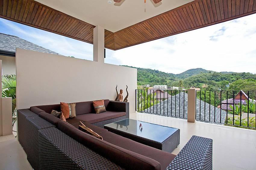 Open air lounge at Villa Ampai in Nai Narn Phuket