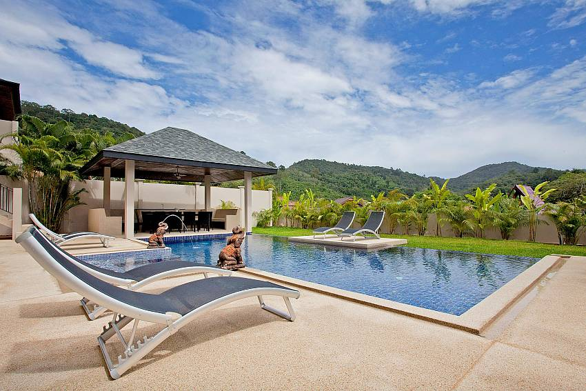 Huge private pool at Villa Ampai in South Phuket