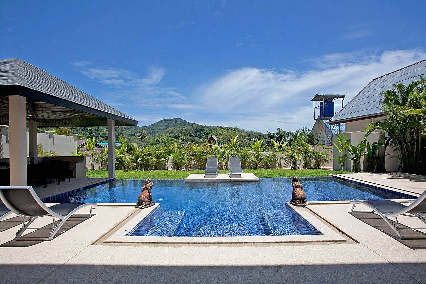 Relax at the private pool of Villa Ampai Phuket