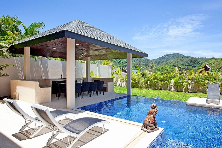 Private swimming pool at Villa Ampai Nai Harn Sough Phuket