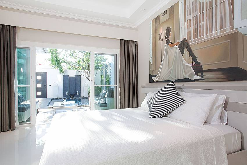 Direct pool access from the bedrooms at Pratumnak Regal Villa Pattaya