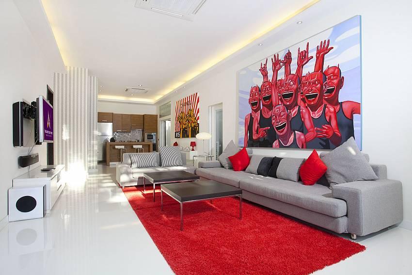 Comfortable open plan lounge at Pratumnak Regal Villa in Pattaya