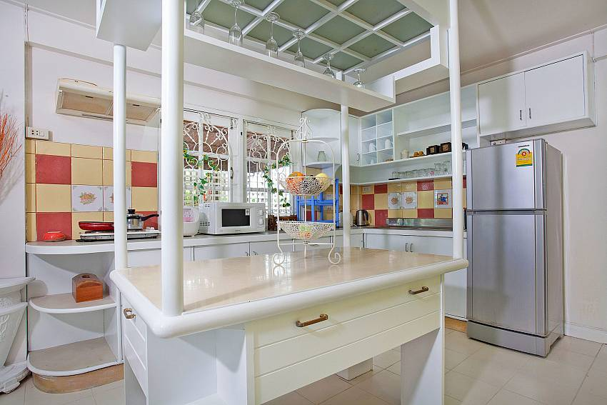 Kitchen room with refrigerator Of Jomtien Paradise Villa