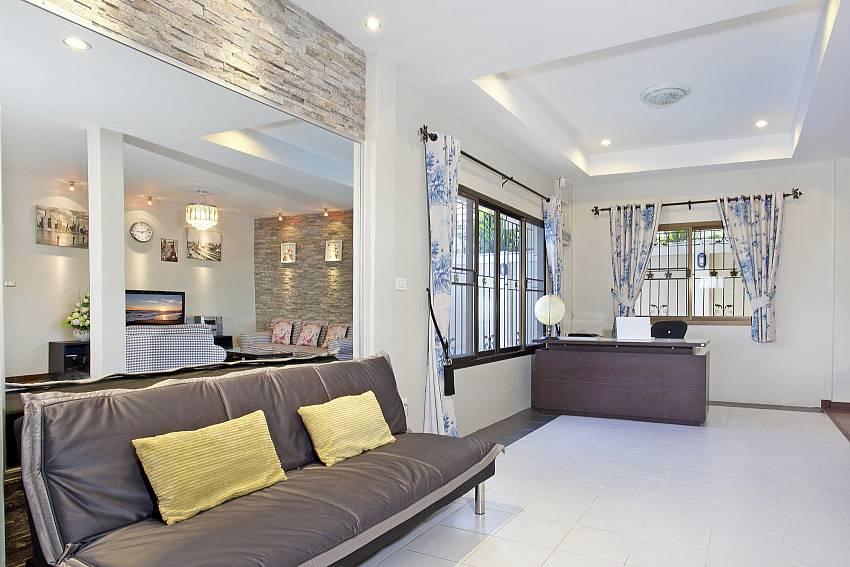 Sofa in the house Of Villa Enigma