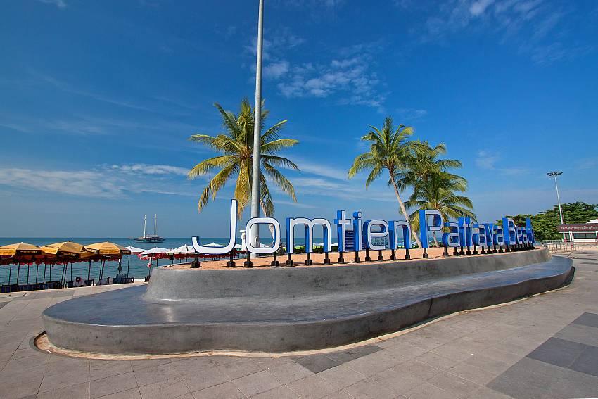 Jomtien Beach in South Pattaya close to Villa Enigma