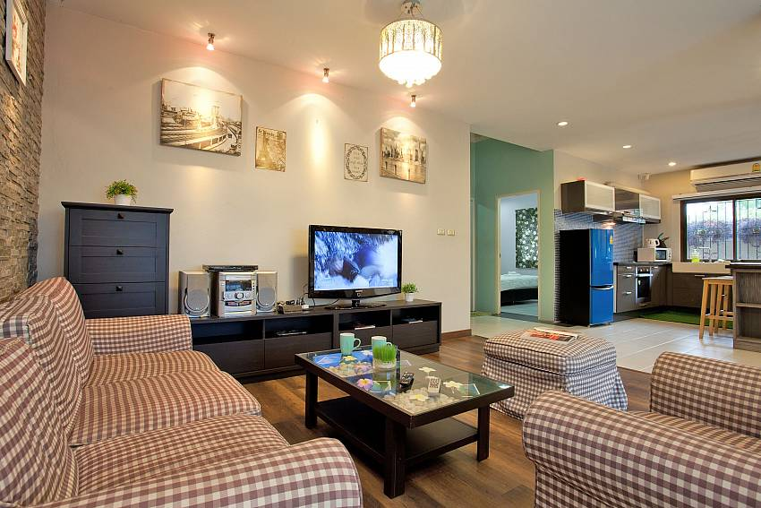 Open Plan living and dining area with kitchen at Villa Enigma close to Pratumnak Pattaya