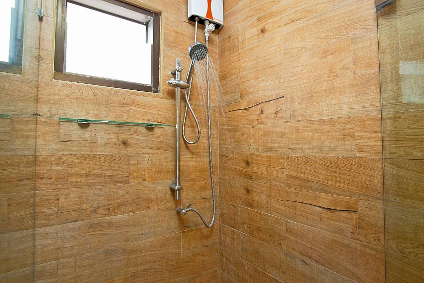 Shower cabin at Villa Enigma between Jomtien and Partumnak South Pattaya