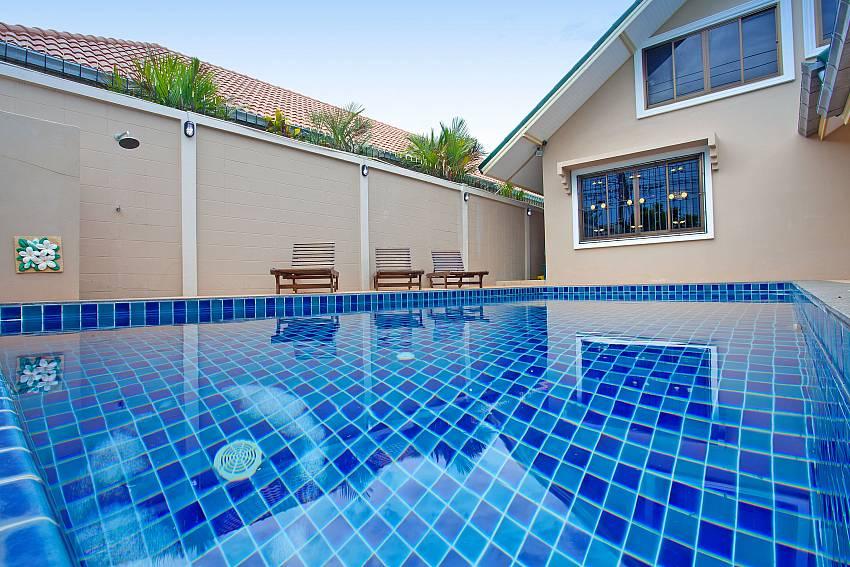 Refreshing private pool at Villa Enigma near Jomtien Pattaya