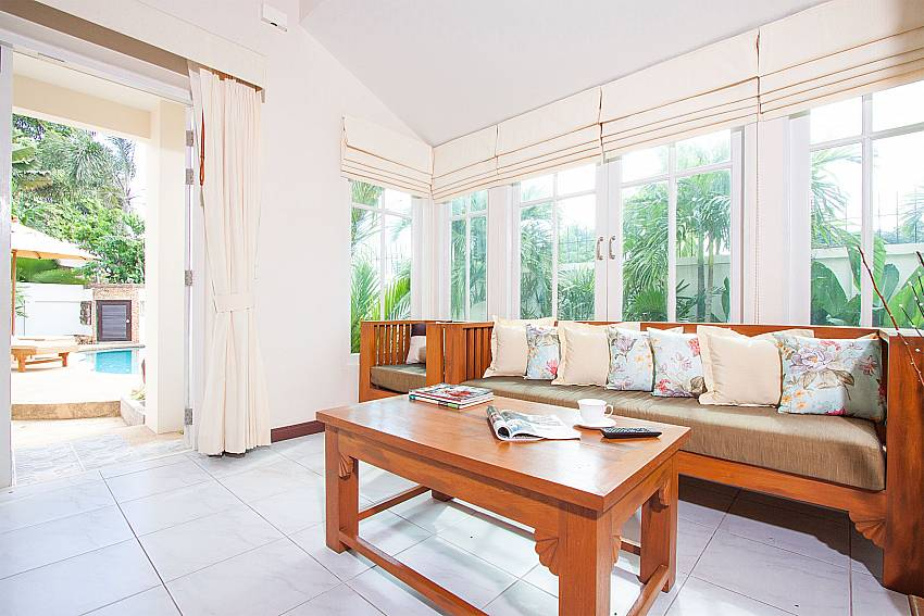 Living area with direct pool access at Jomtien Ascension A Pattaya