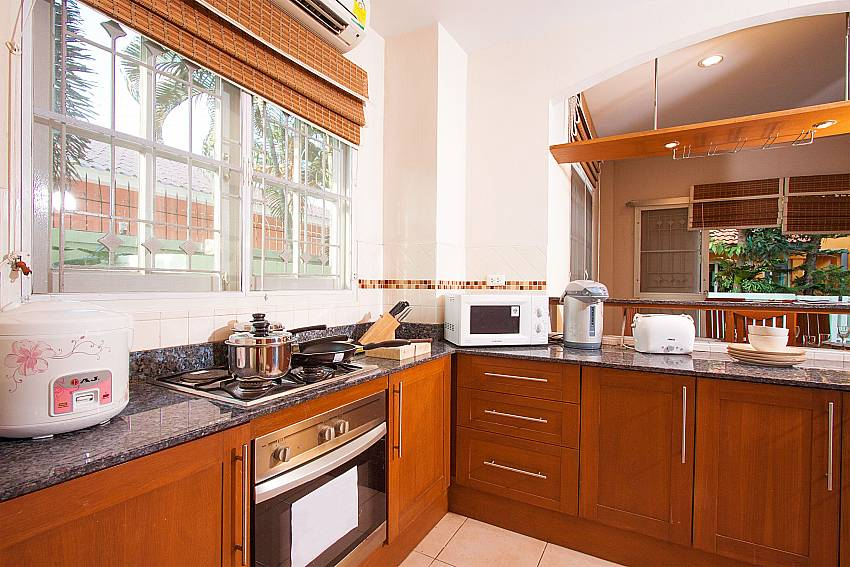 Fully equipped kitchen at Jomtien Ascension B Villa in Pattaya