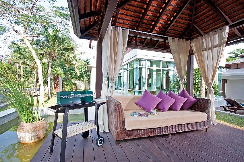 Lounging on pavilion Of Baan Mork Nakara Gorgeous