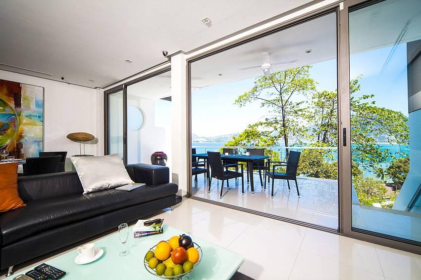 Living room near the balcony Of Seductive Sunset Villa Patong A5