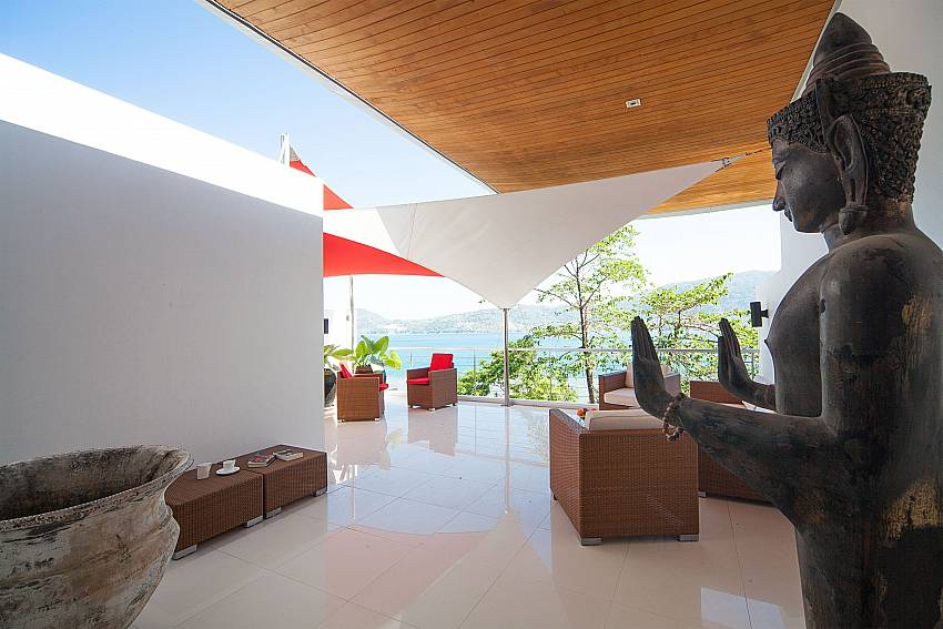 Rooftop terrace lounge at Seductive Sunset Villa Patong A5 on Sunset coast Phuket