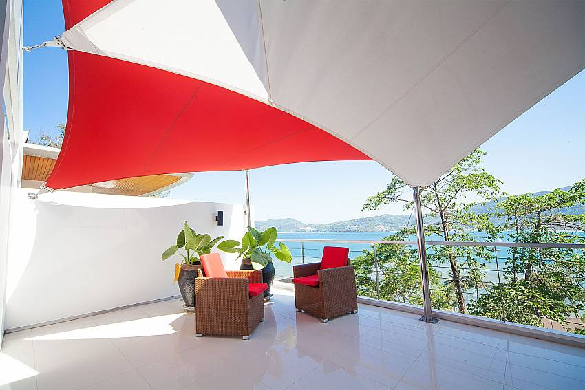 Top modern rooftop terrace at Seductive Sunset Villa Patong A5 in West Phuket
