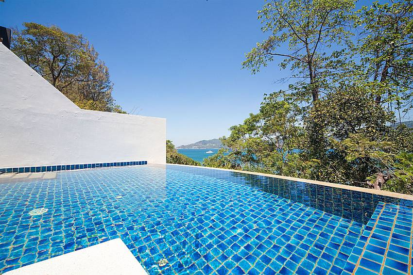 Magnificent view from pool terrace at Seductive Sunset Villa Patong A5 Phuket