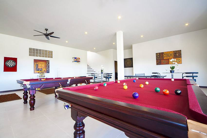 Snooker table in the house Of View Peche Villa