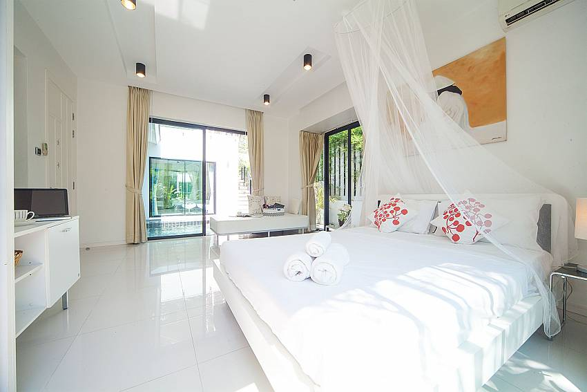 Master bedroom at Villa Chabah near Kamela Beach Phuket