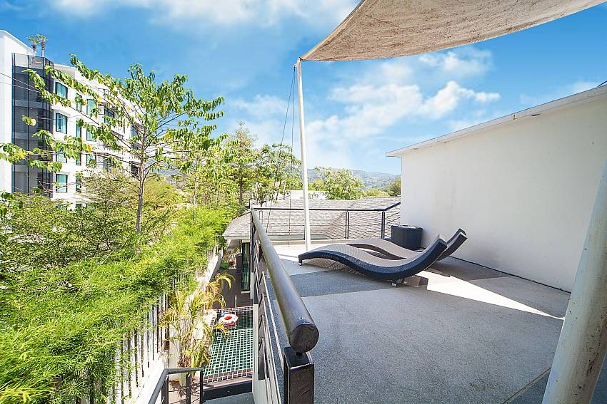 Roof top with sun deck at 3 bedroom Villa Chabah in West Phuket