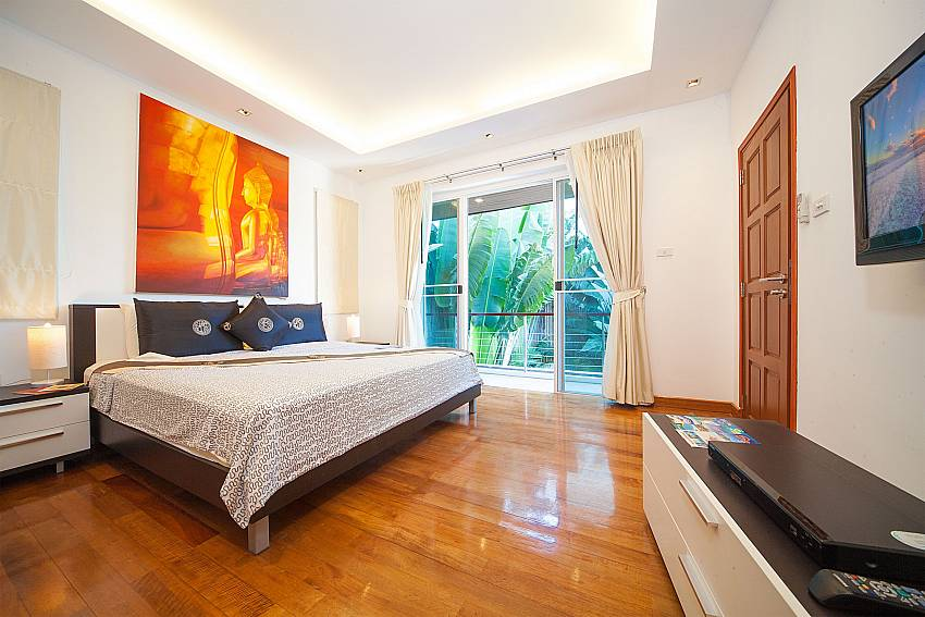 Big master bedroom at Villa Romeo on sunset coast West Phuket
