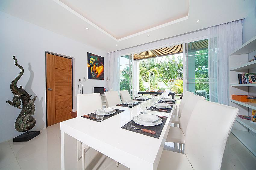Open plan dining and living area in Villa Juliet Phuket