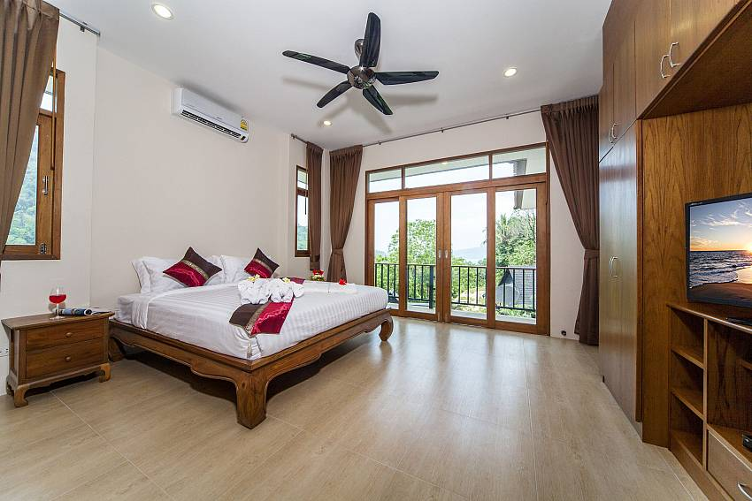 Bedroom see views with TV and shelves Of Patong Hill Estate Seven (Seven)