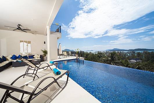 Аренда виллы на Пхукете: Villa Hin Fa - 8+ Bed - Seaviews in Extensive Modern Grandeur, 9 Спален. 76511 бат в день