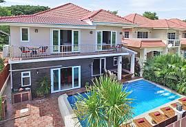 Великолепная дизайнерская тропическая вилла Baan Calypso с семью спальнями и собственным огромным бассейном в районе Джомтьен, Южная Паттайя