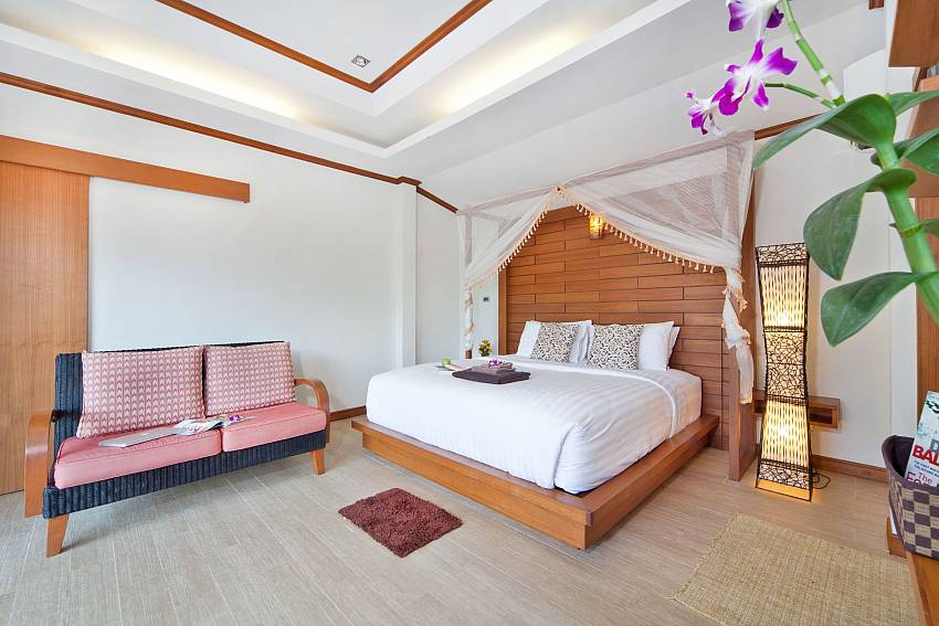 Bedroom with sofa Of BangTao Tara Villa 2 (First)