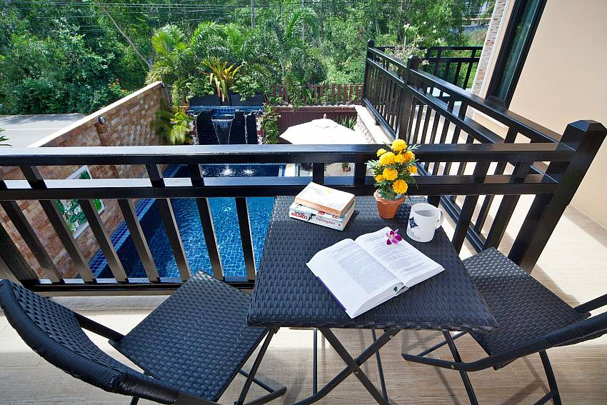 Coffee table outdoor on balcony Of BangTao Tara Villa 2