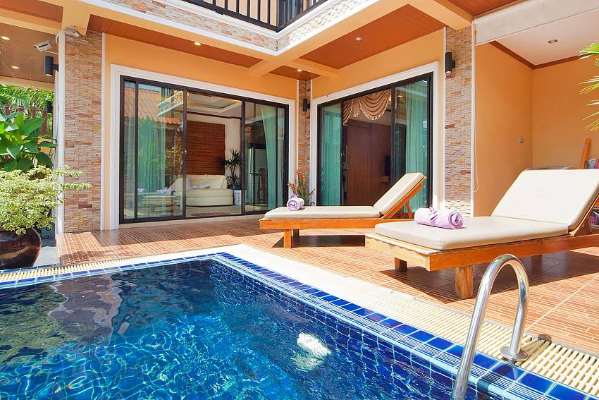 Enjoy leisure hours by the private pool at BangTao Tara Villa 2 Phuket