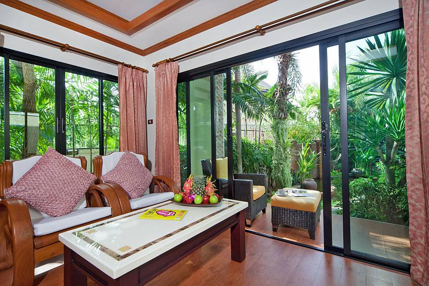 Lounging corner in the house can walk to outdoor Of BangTao Tara Villa 1