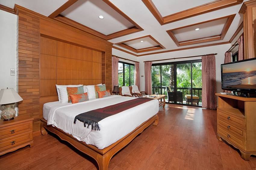 Bedroom with TV and shelves Of BangTao Tara Villa 1 (Second)