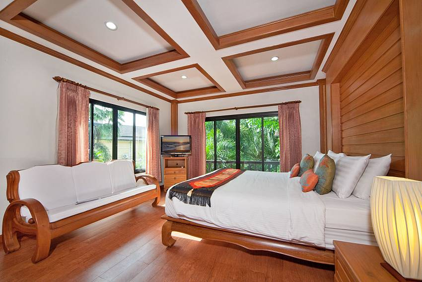 Bedroom see views with sofa Of BangTao Tara Villa 1 (Third)