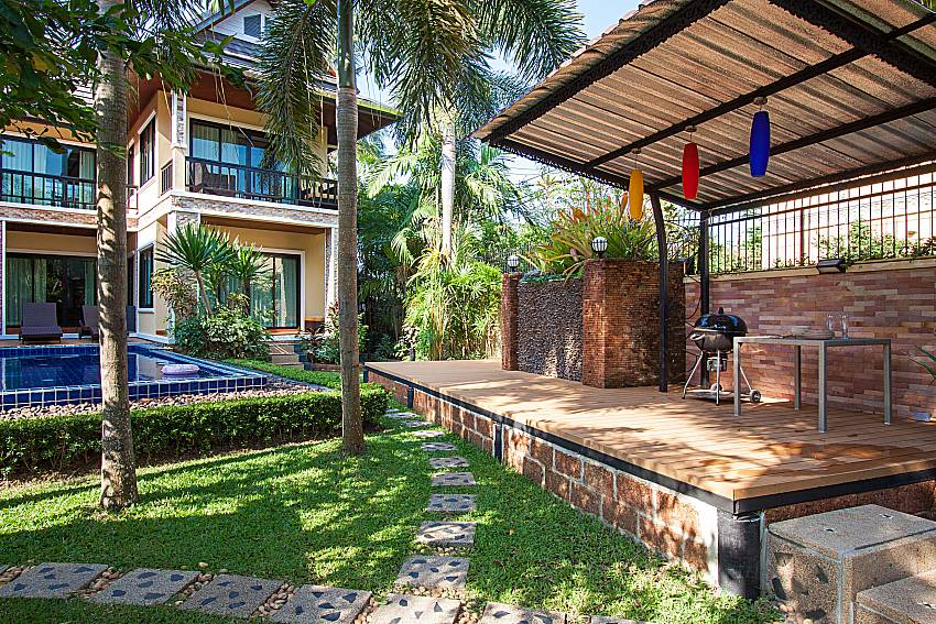 Relax corner outdoor near the pool Of BangTao Tara Villa 1