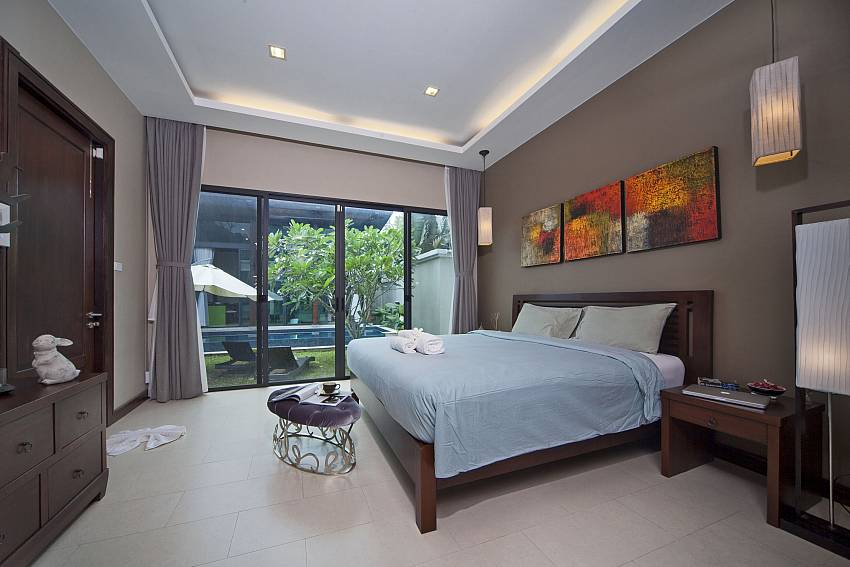 Guest Bedroom  with pool views with shelves Of Baan Wana 8 (Second)