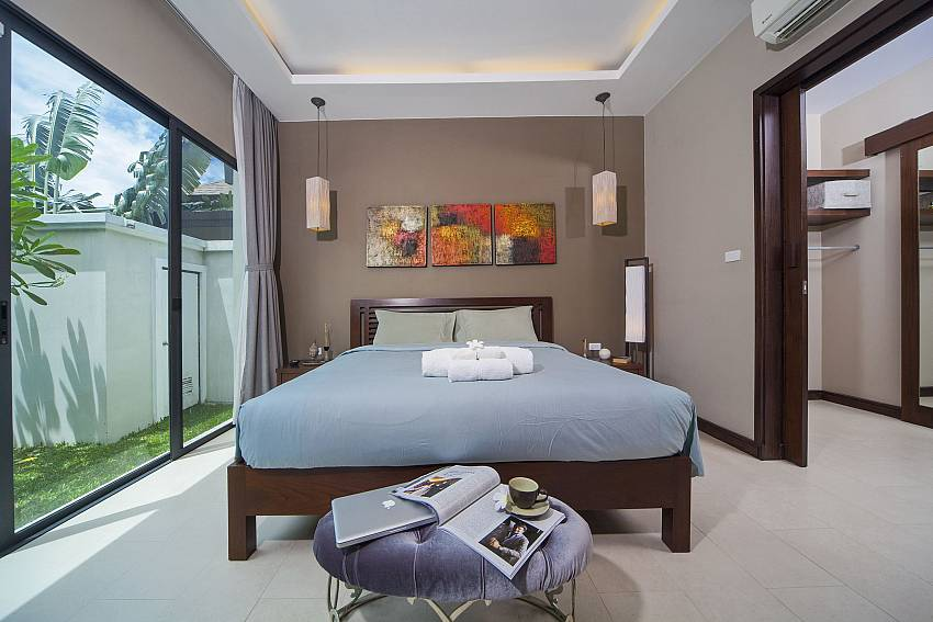 King size bed at guest bedroom Of Baan Wana 8 (Second)