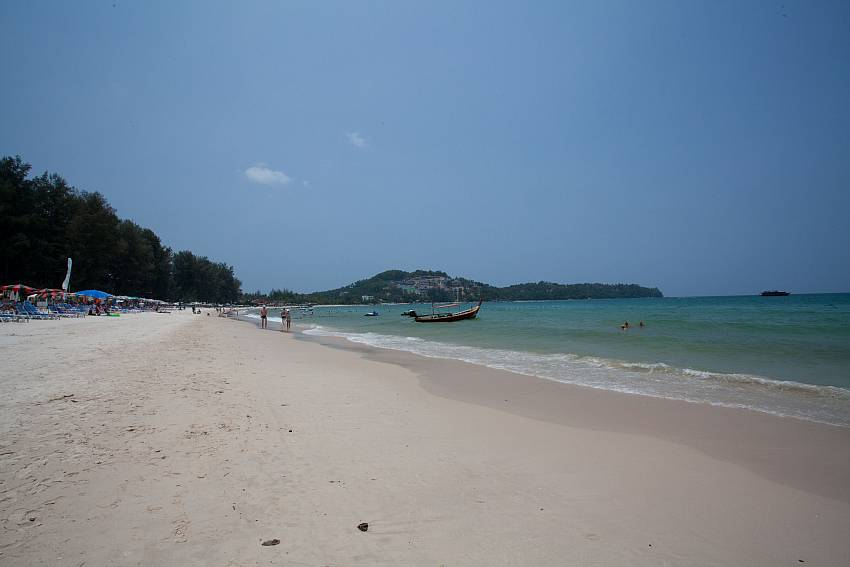 Enjoy a quiet beach walk in Surin, only a few car minutes from Baan Wana 8 Phuket