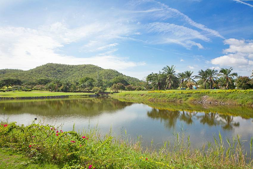 Scenery with trees and mountains Of Hua Hin Manor Palm Hills