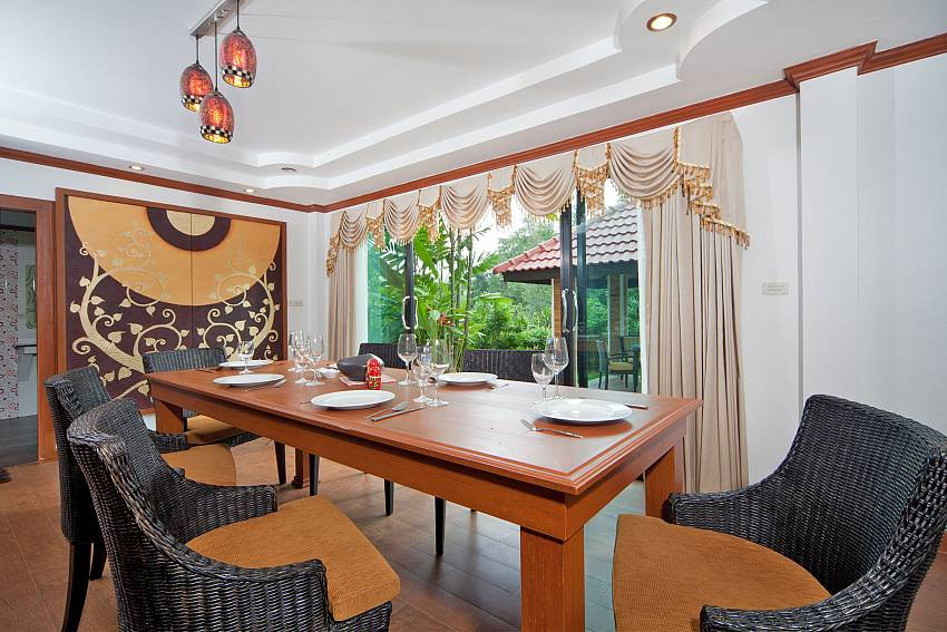 Dinning table see views Of BangTao Tara Villa 3