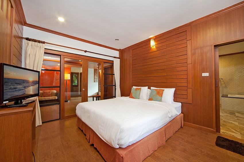 Bedroom with TV and wardrobe Of BangTao Tara Villa 3 (Second)