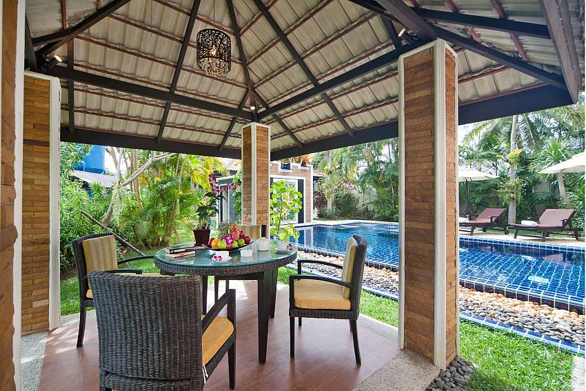 Pavilion outdoor near the pool Of BangTao Tara Villa 3