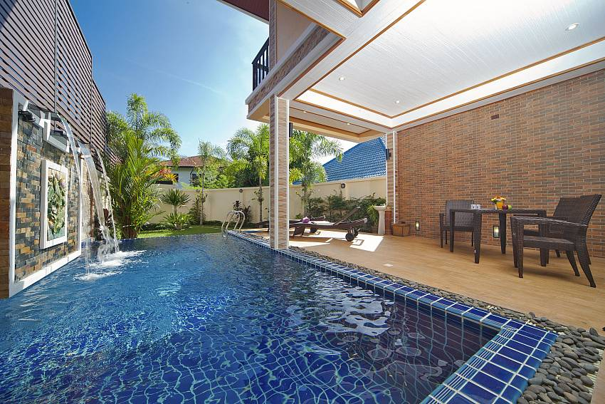 Swimming pool outdoor with coffee table Of BangTao Tara Villa 4