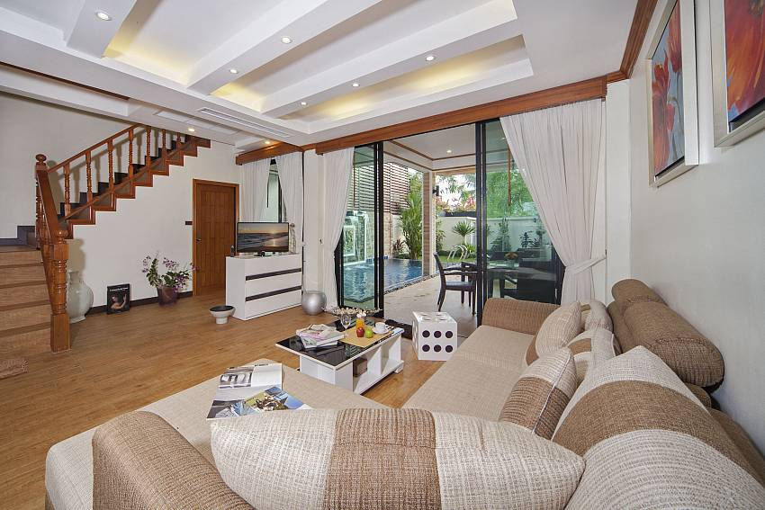Living room next to the ladder Of BangTao Tara Villa 4