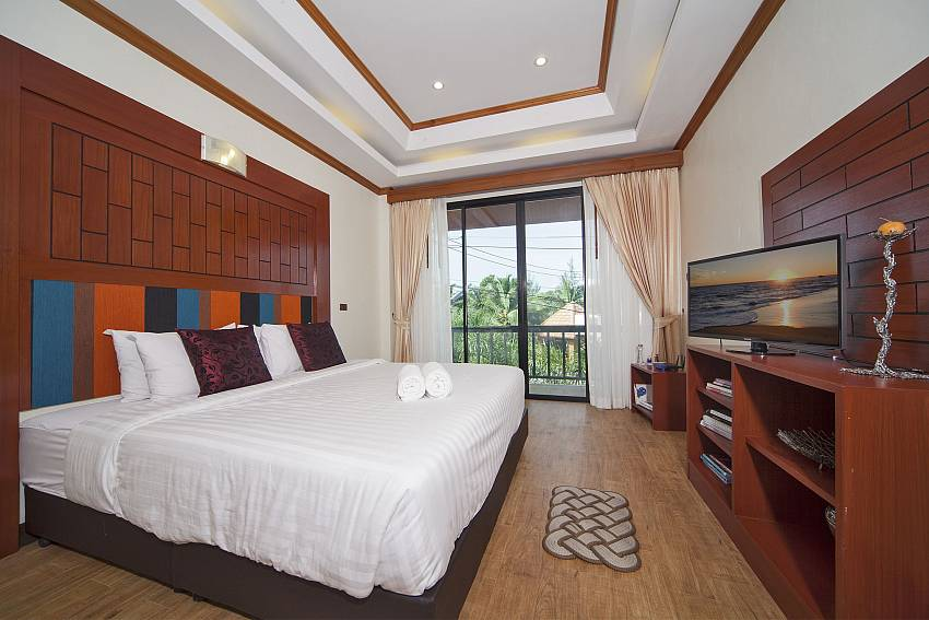 Bedroom see views with TV Of BangTao Tara Villa 4 (First)