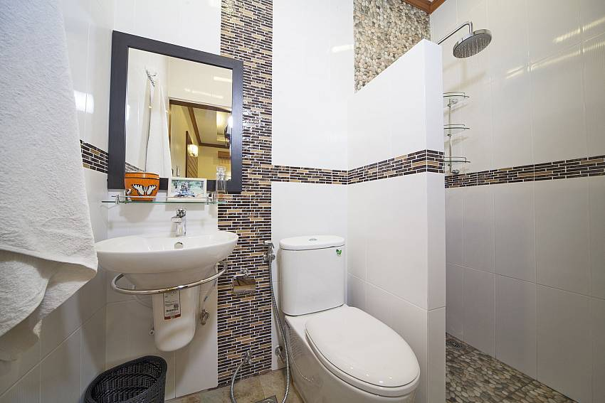 Toilet with shower and basin wash Of BangTao Tara Villa 4