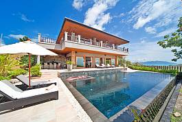 Large 4Br Sea View Pool Villa at Choeng Mon Koh Samui